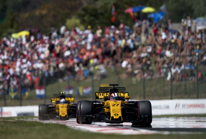Germany's Nico Hulkenberg driving the (27) Renault Sport Formula One Team Renault RS17 on track during the Formula One Grand Prix of Hungary