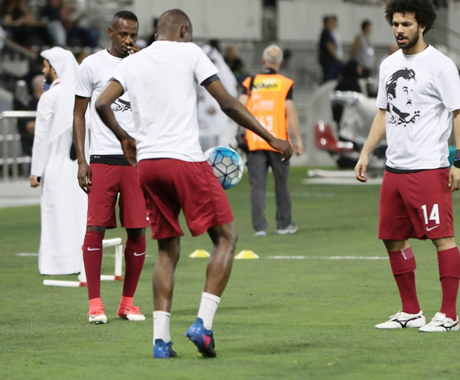 Rediff Sports - Cricket, Indian hockey, Tennis, Football, Chess, Golf - Will FIFA take action against Qatar after t-shirt protest?