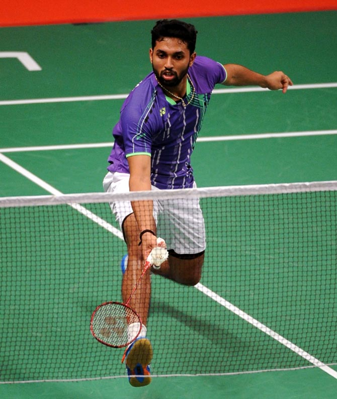 Rediff Sports - Cricket, Indian hockey, Tennis, Football, Chess, Golf - Prannoy's campaign ends in agony at All England