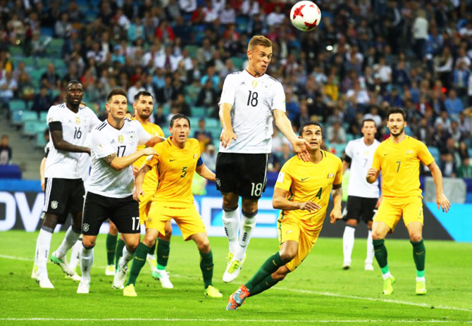 Germany's Joshua Kimmich in action during their FIFA Confederations Cup Group B match against Australia at Fisht Stadium, Sochi, Russia, on Monday