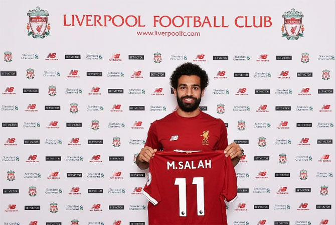 Salah joins Liverpool from Roma for 34.3m pound