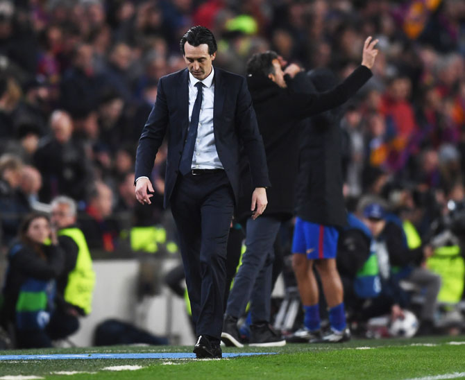 Rediff Sports - Cricket, Indian hockey, Tennis, Football, Chess, Golf - Where did PSG lose the plot? Emery searches for answers