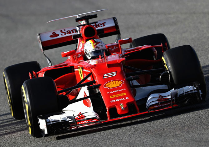 Rediff Sports - Cricket, Indian hockey, Tennis, Football, Chess, Golf - Ferrari's Italian stallion has a spring in its step