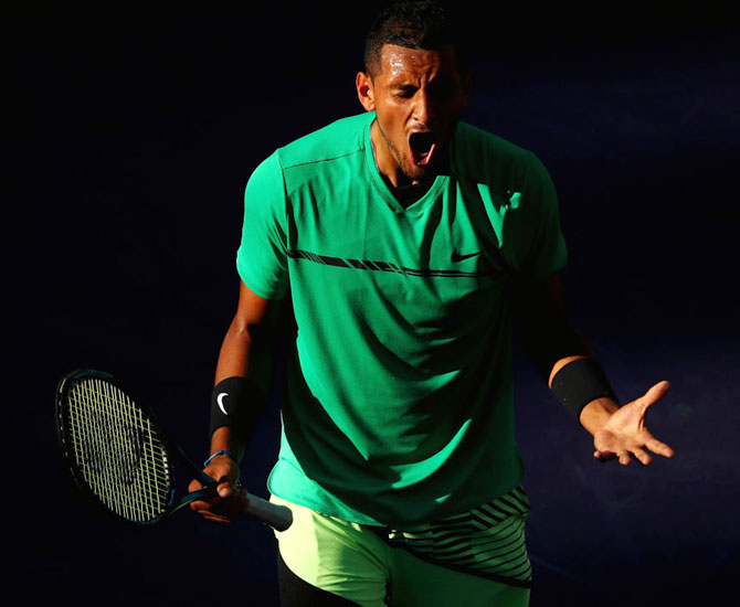 Rediff Sports - Cricket, Indian hockey, Tennis, Football, Chess, Golf - PHOTOS: Kyrgios stuns Djokovic again, Federer thrashes Nadal