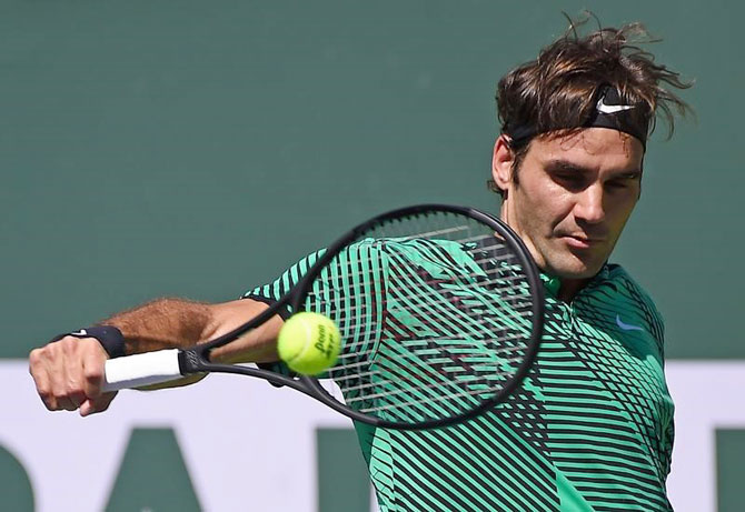 Rediff Sports - Cricket, Indian hockey, Tennis, Football, Chess, Golf - Federer to meet Wawrinka in all-Swiss final at Indian Wells