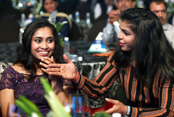 Dipa Karmakar and Sakshi Malik were named in Forbes' list of young achievers, that also included actress Alia Bhatt and paralympian Sharath Gayakwad