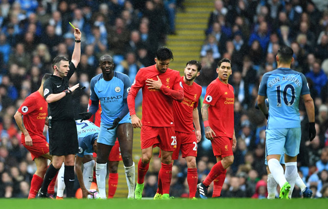 Rediff Sports - Cricket, Indian hockey, Tennis, Football, Chess, Golf - EPL: City charged with misconduct in Liverpool game