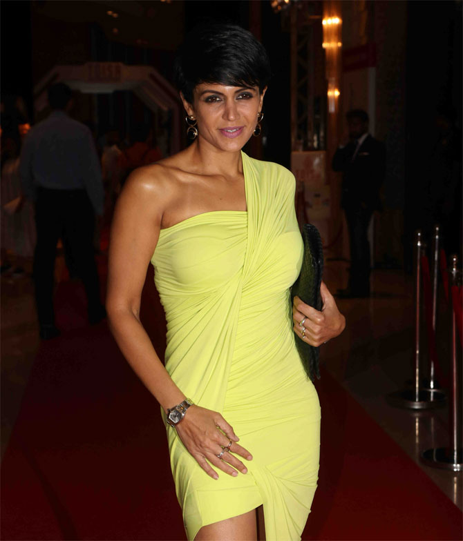 Mandira Bedi was one of the many Bollywood stars in attendance