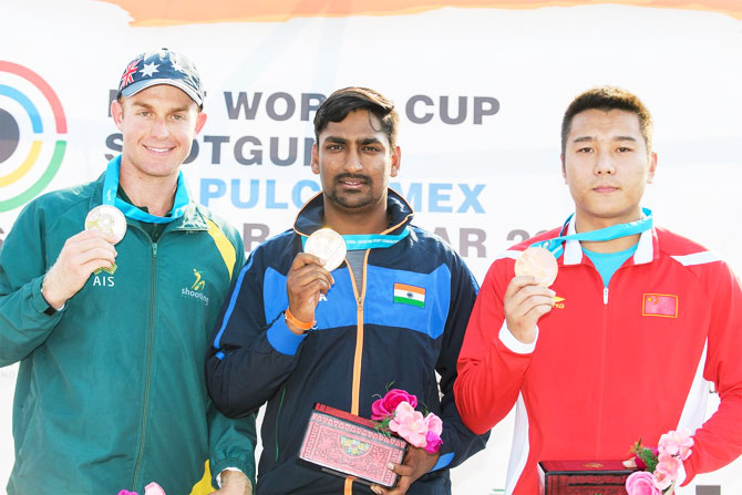 Mittal ended with 75 points out of possible 80 in the six-man final to win India's first medal in the competition while Willet managed 73.
