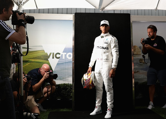 Rediff Sports - Cricket, Indian hockey, Tennis, Football, Chess, Golf - Pre-race buzz: Lewis Hamilton 'in league of his own'