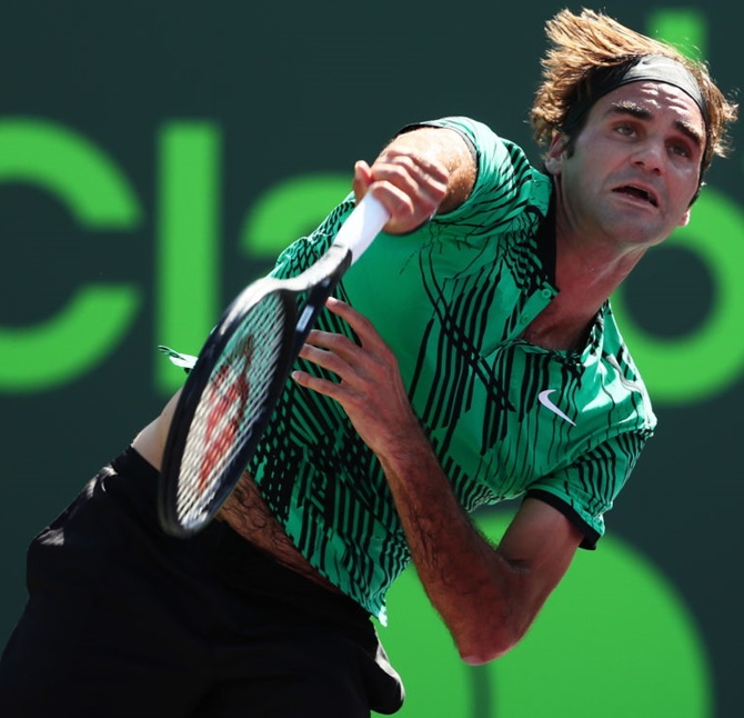 Rediff Sports - Cricket, Indian hockey, Tennis, Football, Chess, Golf - Miami Open: Federer in, Wawrinka out on mixed day for Swiss