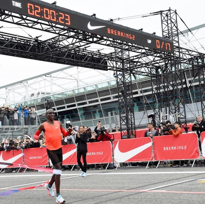 Kipchoge Runs Fastest Marathon But...