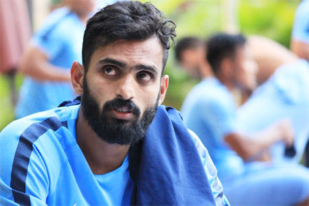 India and Bengaluru FC footballer CK Vineeth