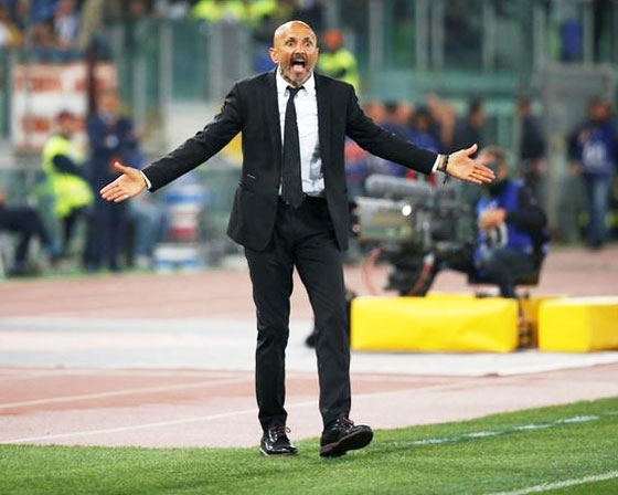 AS Roma manager Luciano Spaletti