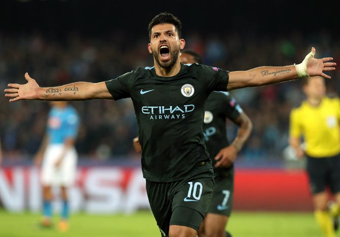 Rediff Sports - Cricket, Indian hockey, Tennis, Football, Chess, Golf - Football Briefs: Aguero in 'peak' condition after knee surgery