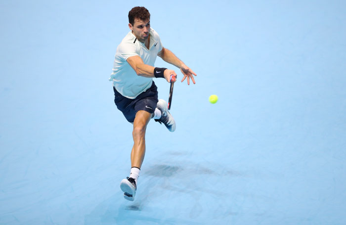 Rediff Sports - Cricket, Indian hockey, Tennis, Football, Chess, Golf - ATP Tour Finals: Dimitrov marks debut with narrow victory over Thiem