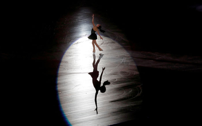 Japan's Hanna Yoshida performs during a figure-skating concert in Osaka on Sunday