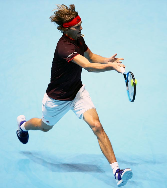 Rediff Sports - Cricket, Indian hockey, Tennis, Football, Chess, Golf - Zverev beats Cilic in impressive ATP Finals debut