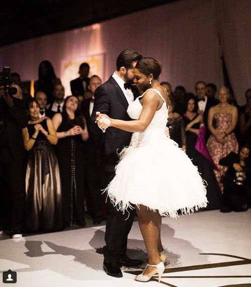 Alexis Ohanian and Serena Williams at their first dance