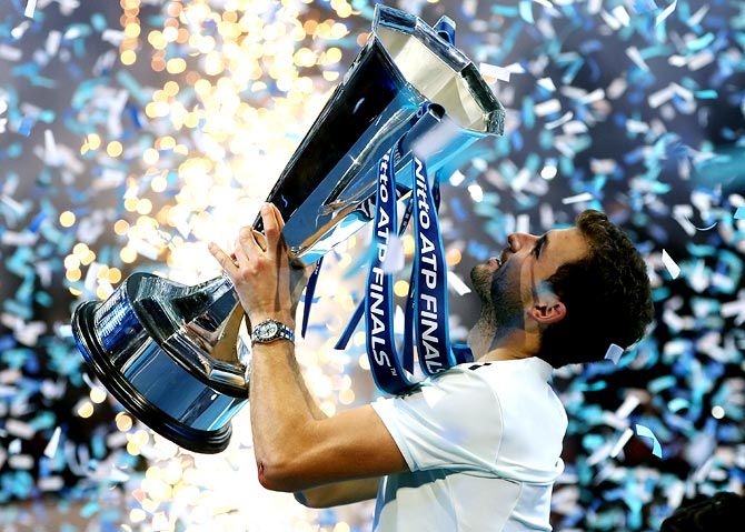 Rediff Sports - Cricket, Indian hockey, Tennis, Football, Chess, Golf - Dimitrov comes of age to win ATP Finals title