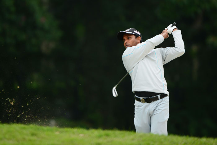 India's SSP Chawrasia during round three of the UBS Hong Kong Open at The Hong Kong Golf Club in Hong Kong on Saturday