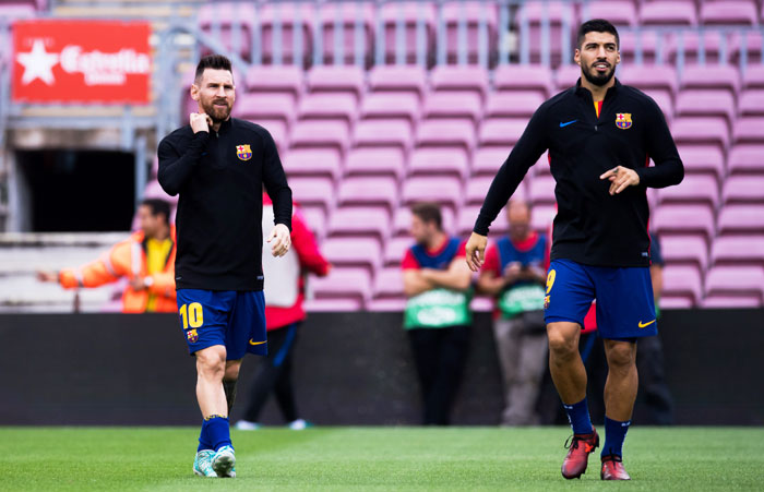 FC Barcelona's famed strike duo, Lionel Messi and Luis Suarez, could soon be playing in another league