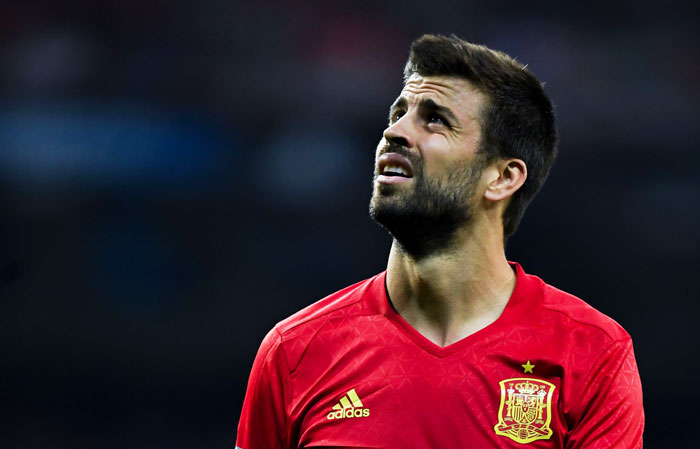 Spain supporters at the Las Rozas training facility in Madrid jeered, whistled and chanted at Gerard Pique to leave the team