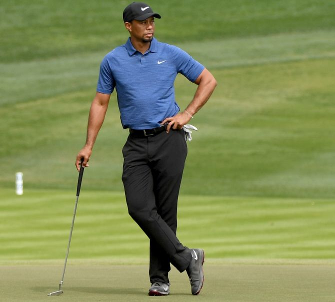 Tiger Woods. Photograph: Ross Kinnaird/Getty Images