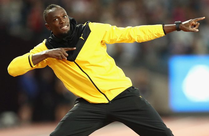Rediff Sports - Cricket, Indian hockey, Tennis, Football, Chess, Golf - Usain Bolt to put Hamilton under starter's orders