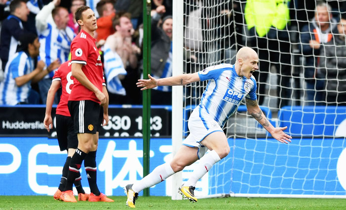 EPL PIX: Manchester United stunned by Huddersfield