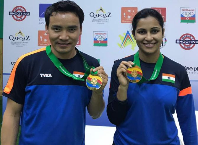 Sports shorts: Jitu, Heena strike gold in mixed team event