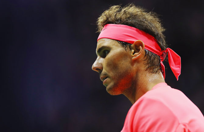 Rafael Nadal questioned the authorities' move to allow Fabio Fognini play two doubles before his suspension for misconduct in a previous match