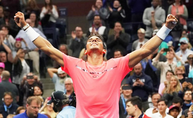 Rediff Sports - Cricket, Indian hockey, Tennis, Football, Chess, Golf - Nadal survives early wobble to book last 16 spot at US Open