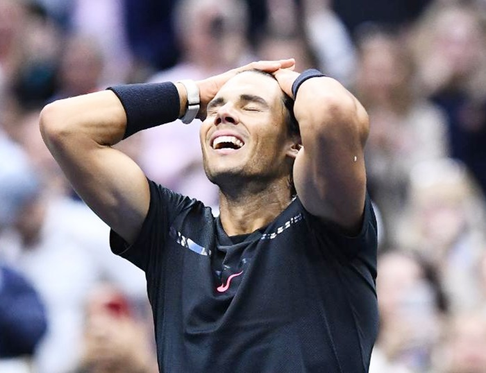 Rafael Nadal is a bundle of emotions after winning his third US Open title and 16th Grand Slam on Sunday