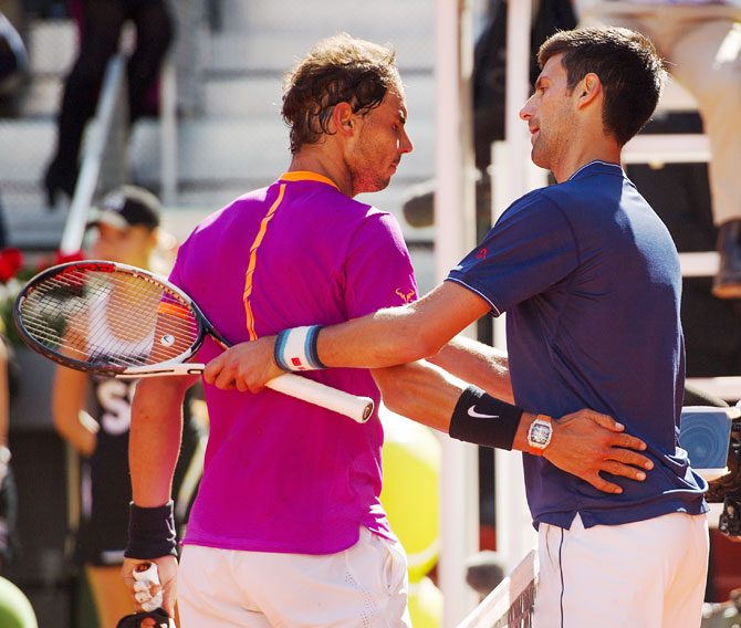 Nadal and Djokovic have played each other 50 times, the Serbian prevailing 26 times but losing three of their four grand slam final encounters