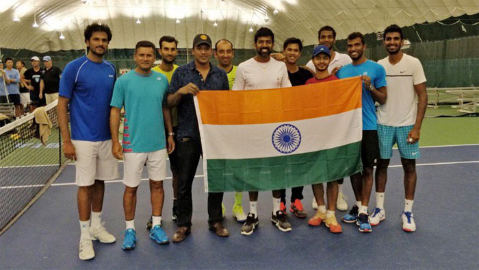 The Indian Davis Cup team held a week-long practice at the University of Columbia in New York in preparation of the tie against Canada. The camp ended on Saturday, September 9.