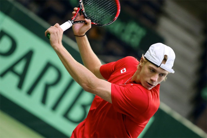 Denis Shapovalov is one of Canada's big bets to get them going in the singles tie