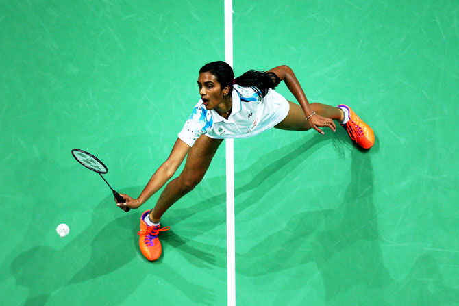 India's PV Sindhu was stretched by Nitchaon Jindapol before getting the better of the Thai player with a 22-20, 21-17 win
