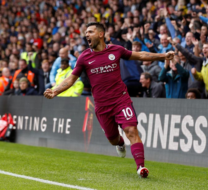 EPL PHOTOS: City hit Watford for a six, Liverpool struggle