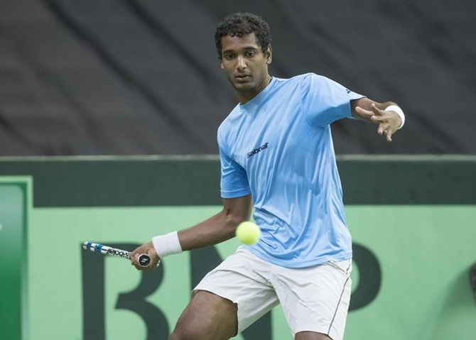 Rediff Sports - Cricket, Indian hockey, Tennis, Football, Chess, Golf - Davis Cup: Yuki scores consolation win after Ramkumar loses
