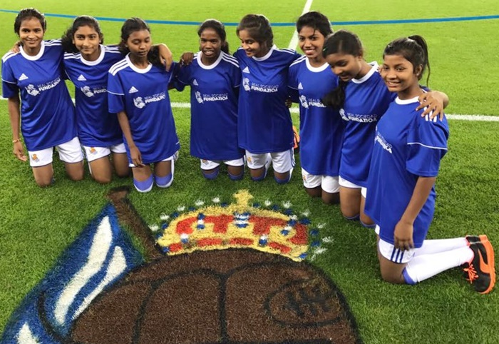 Rediff Sports - Cricket, Indian hockey, Tennis, Football, Chess, Golf - What these Jharkhand girls are doing in Spain?