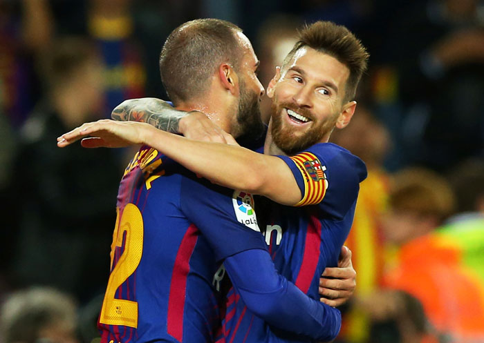 Rediff Sports - Cricket, Indian hockey, Tennis, Football, Chess, Golf - PIX: Four-star Messi makes it a night to remember as Barca rout Eibar