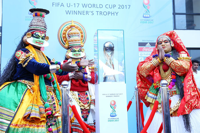 The Under-17 football World Cup is unveiled in Kochi on Friday