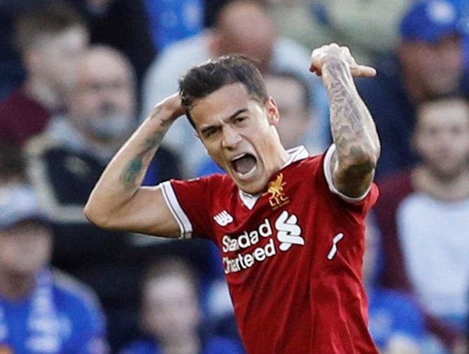 Rediff Sports - Cricket, Indian hockey, Tennis, Football, Chess, Golf - Coutinho shows why he is priceless to Liverpool