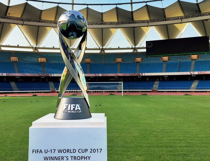 The trophy of the FIFA Under-17 World Cup India, 2017