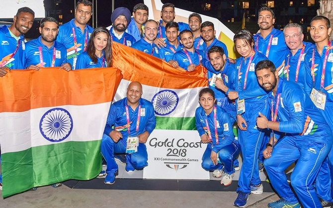 Controversy aside, exuberant flag hoisting at CWG village by India