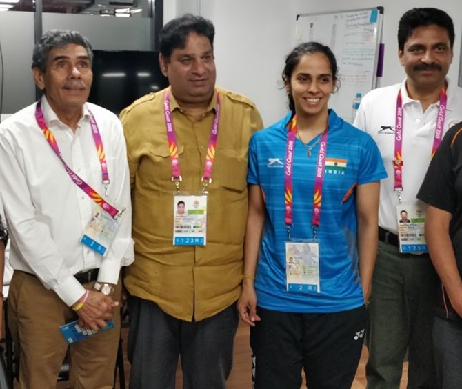 Problem resolved! Saina Nehwal's father gets access into Games village