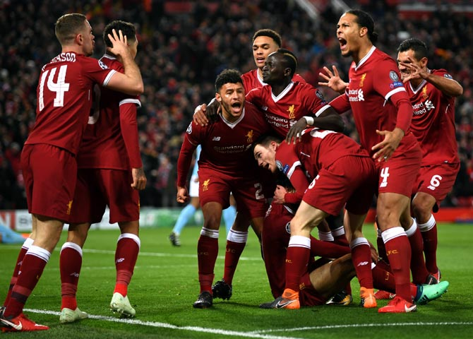 Rediff Sports - Cricket, Indian hockey, Tennis, Football, Chess, Golf - Liverpool, PSG and Napoli drawn together in Champions League