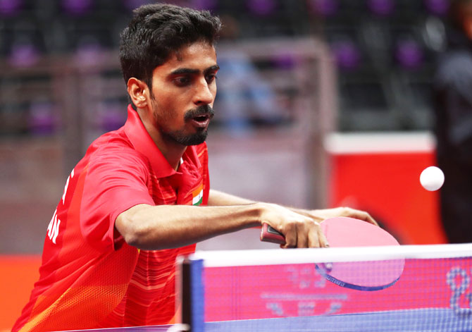 Sathiyan Gnanasekaran of India