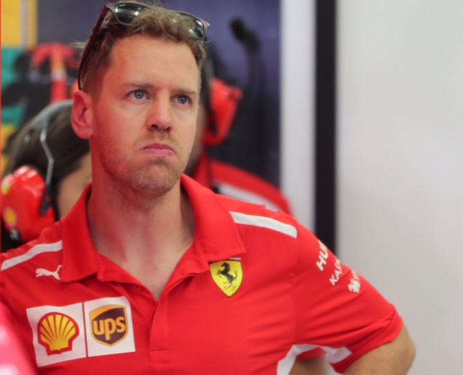 Rediff Sports - Cricket, Indian hockey, Tennis, Football, Chess, Golf - Vettel takes Bahrain GP pole in Ferrari one-two